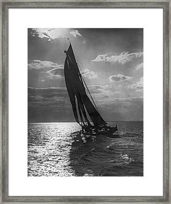 Thebaud Setting Out To Sea Framed Print