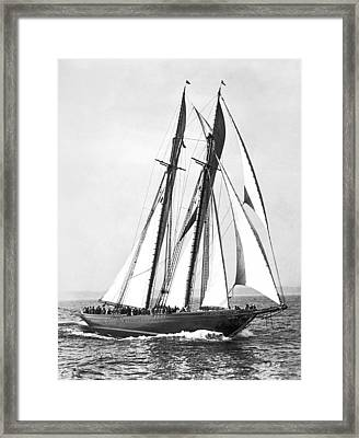 Thebaud Under Full Sail Framed Print by Underwood Archives