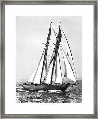 Thebaud Under Full Sail Framed Print