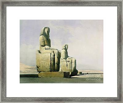 Thebes Framed Print by David Roberts