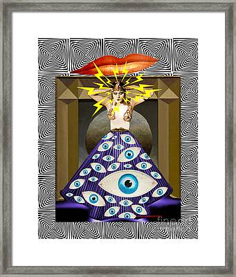 Framed Print featuring the digital art Theda Da by Sasha Keen