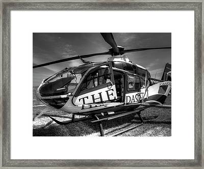 Theda Star Black And White Framed Print by Thomas Young