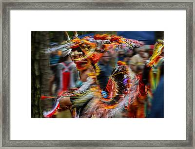 Their Spirit Is Among Us - Nanticoke Powwow Delaware Framed Print