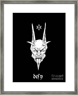 Thelemic Devil Framed Print by Alaric Barca