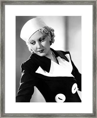 Thelma Todd, 1934 Framed Print