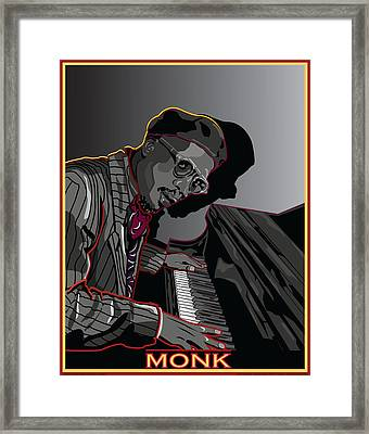 Thelonius Monk Legendary Jazz  Pianist Framed Print by Larry Butterworth