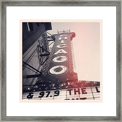 #theloop #chicago #chicagotheatre Framed Print by Mike Maher