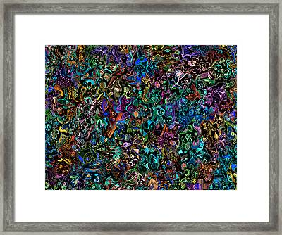 Themeless Process 12 - Inversion Framed Print by Dave Migliore