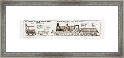 Then And And Now The Earliest And Latest Locomotive Engines Framed Print by Litz Collection