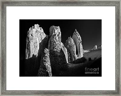 Then And Now Framed Print