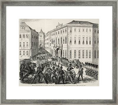 (then Bohemia, With Austria) Street Framed Print by Mary Evans Picture Library