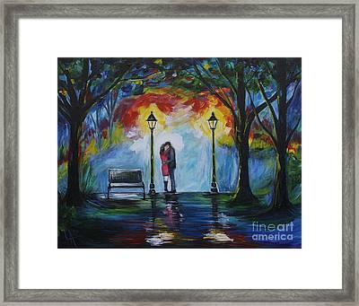 Then He Kissed Me Framed Print by Leslie Allen