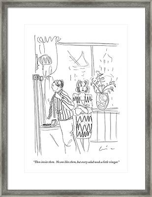 Then Invite Them.  No One Likes Framed Print by Richard Cline