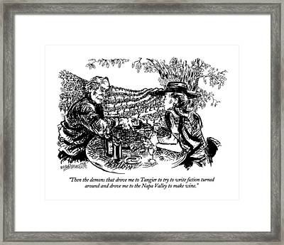 Then The Demons That Drove Me To Tangier To Try Framed Print by William Hamilton