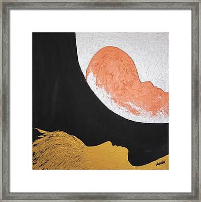 ..then The Moon Come To Kiss Good Bye... Framed Print