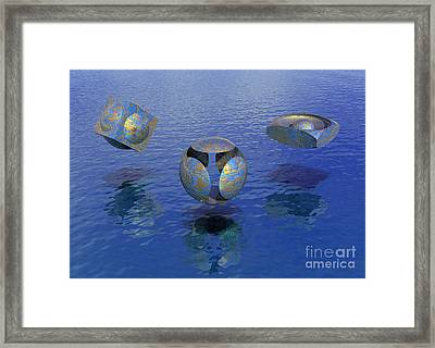 Then There Were Three - Surrealism Framed Print by Sipo Liimatainen