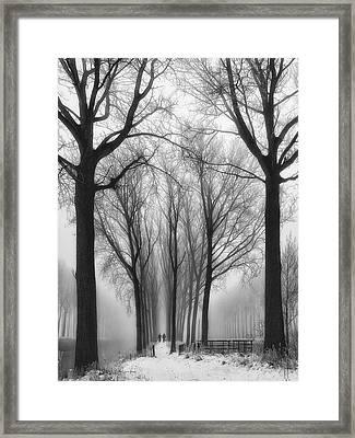 Then Winter Comes Framed Print by Yvette Depaepe