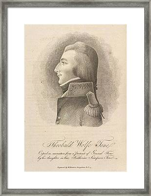 Theobald Wolfe Tone Framed Print by British Library