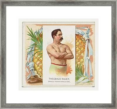 Theobaud Bauer, Graeco-roman Wrestler Framed Print by Allen & Ginter