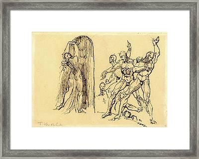 Theodore M. Von Holst, British 1810-1844 Framed Print by Litz Collection