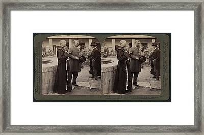 Theodore Roosevelt And Party At The Old Mission Framed Print