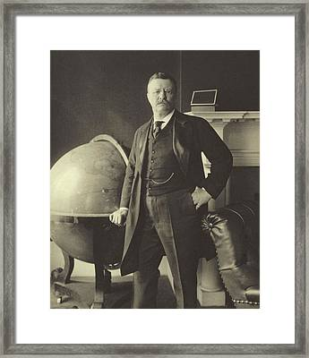 Theodore Roosevelt  Framed Print by Anonymous