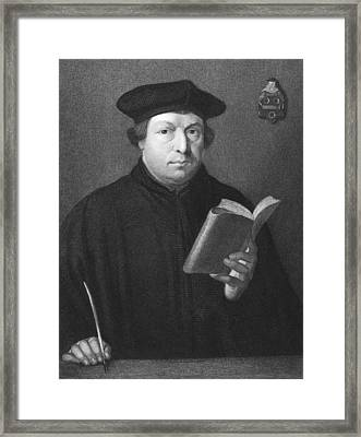 Theologian Martin Luther Framed Print by Underwood Archives