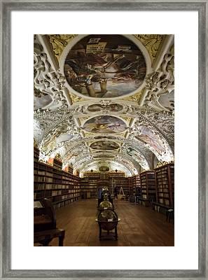 Theological Hall Strahov Monastery Framed Print