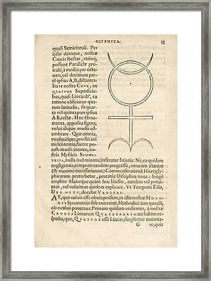 Theorem 23, Monas Hieroglyphica (1564) Framed Print