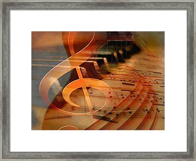 Theoretical Meaning Of Music Framed Print by Georgiana Romanovna