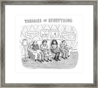 Theories Of Everything: 'everything's Gone Framed Print by Roz Chast
