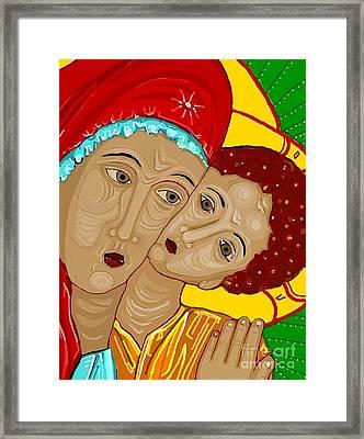 Theotokos Framed Print by Sarah Loft