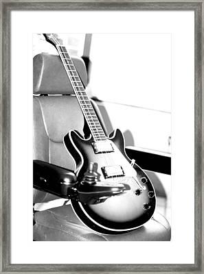 Therapeutic Guitar 3 Framed Print by Sandra Pena de Ortiz