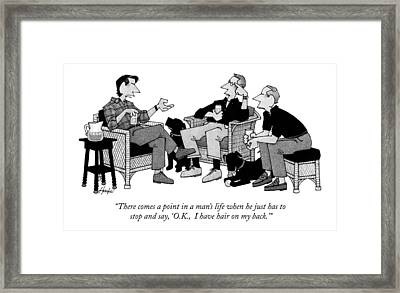 There Comes A Point In A Man's Life When Framed Print by William Haefeli