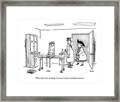 There Has Been A Sharp Increase Framed Print