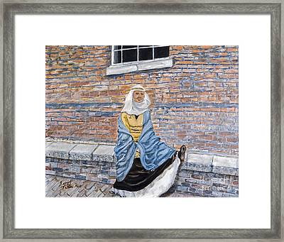 There Is A Hole In My Shoe By Sandy Taffin Framed Print by Sheldon Kralstein