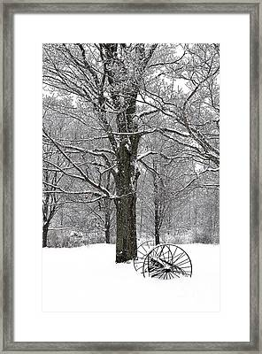There Is A Kind Of Hush Framed Print by Diane E Berry
