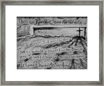 There Is A River Framed Print by Shelia  Doebereiner