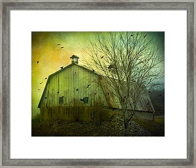 There Is Cawing Outside Framed Print by Gothicrow Images