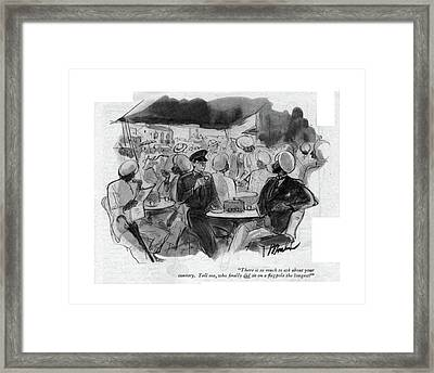 There Is So Much To Ask About Your Country. Tell Framed Print by Perry Barlow