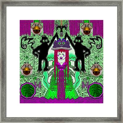 There It Is The Fantasy Panda Hat Framed Print by Pepita Selles