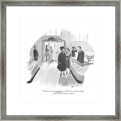There Must Be Something In Tiffany's A Young Framed Print by Helen E. Hokinson