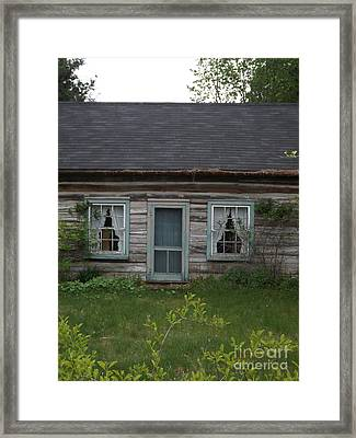 There Once Was A House With A Family Framed Print