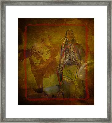 There Was Blood - Tribute To Native Americans Framed Print by Jeff Burgess