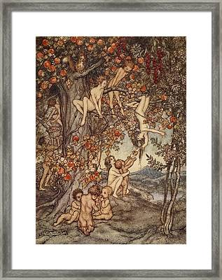 There Was No Danger, No Trouble Of Any Framed Print by Arthur Rackham