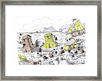 There Were Even Quiet Spots By The Sea Where One Framed Print