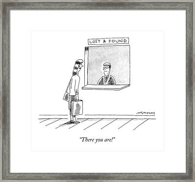 There You Are! Framed Print by Mick Stevens