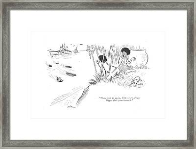 There You Go Framed Print by  Alain