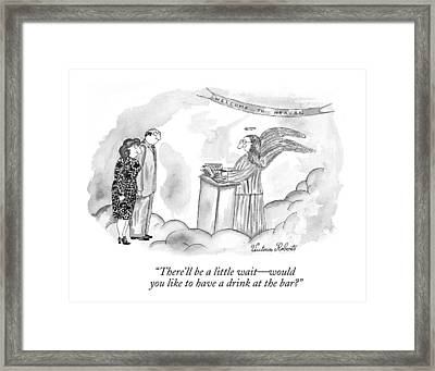 There'll Be A Little Wait - Would You Like Framed Print by Victoria Roberts