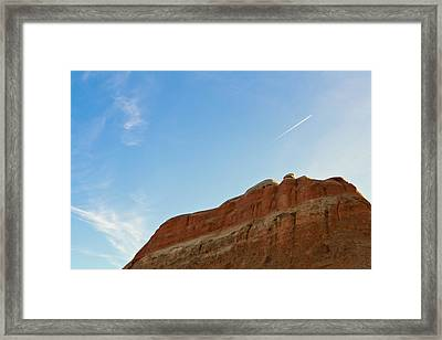 Theres A Plane Framed Print